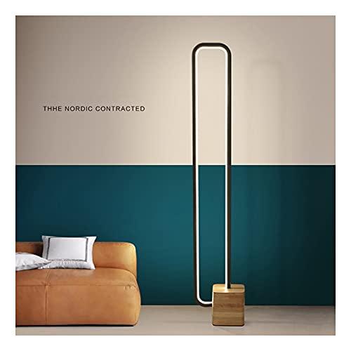 XGJJ Lámpara de pie LED Lámpara de Lectura de Madera Maciza Three-Color Smart Timming Sala de Estar Dormitorio Estudio de pie Lámpara de pie