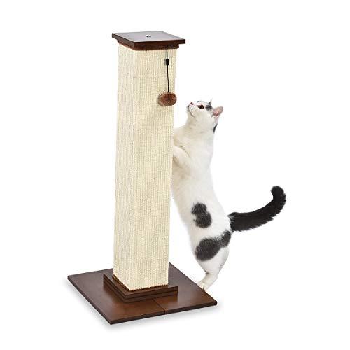 Amazon Basics - Poste rascador para gatos de primera calidad, alto y grande, 40,6x88,9x40,6 cm, madera