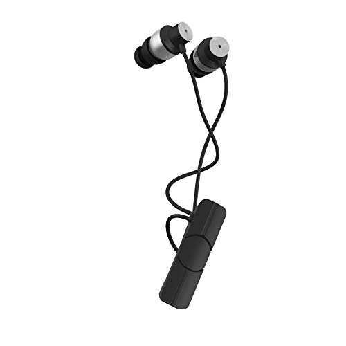 iFrogz Impulse Premium Audio Silicone in-Ear, Earbuds Wireless Bluetooth Lithium-Ion Powered Headphones, Silver/Black (Non-Retail Packaging)