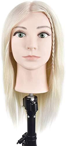 Mannequins de couture reglable Formation pratique professionnelle Head Hot Dyeing Ciseaux blanchissement Modélisation Mannequins Cheveux tressés perruque de cheveux Modèle Femme porte vêtement mannequ