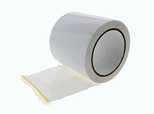 4 in x 60 yd White House Wrap Tape Sheathing Building Wrapping Housewrap Sheath Tape Insulation Seaming Plastic Sheets for Sealing TYVEK in Construction or Moisture Dust Barrier Asbestos Abatement