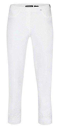 Robell Bella Slim Fit 7/8 Stretchhosen Schlupfhosen Damen Hosen #Bella 09 Collection Frühjahr/Sommer 2017 (38, weiß(10))