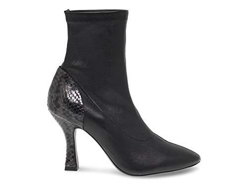 VIC MATIÉ Luxury Fashion Damen VICM7984N Schwarz Leder Stiefeletten | Herbst Winter 19
