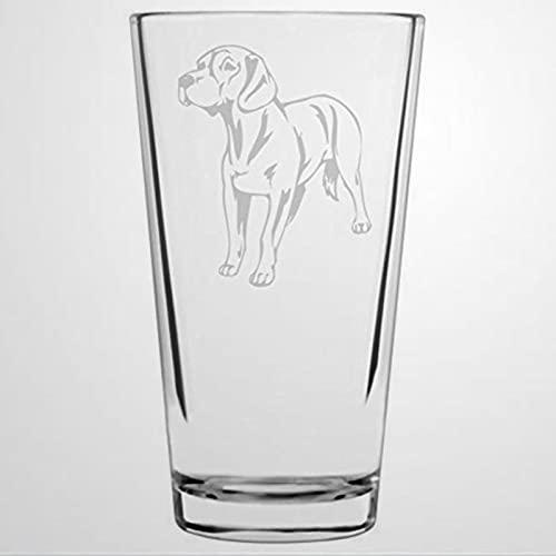 Trinkglas mit Hannoveraner-Motiv, 473 ml, transparent, für Wasser, Saft, Bier, Cocktails