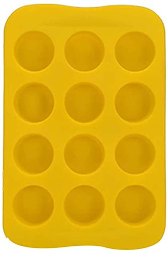 Family in Silikonform,1x DIY Schokoladenform Pralinen-Form Kugel-Form Eisform Silikonform Für Schokolade Eiswürfel Gummibärchen (Rundes Gelb)