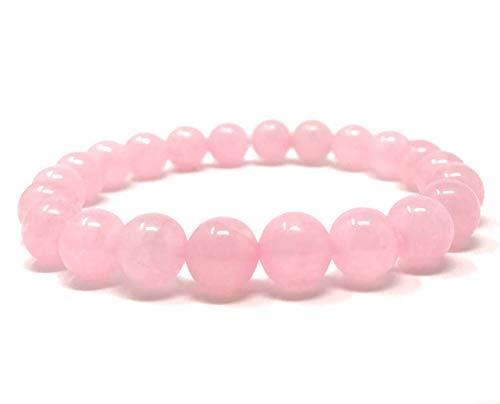 Natürliche AAA AAA Rose Quartz Armband mit Aventurin Combo Stretch-Armband | 7-7,5? Rosen-Quarz-Edelstein-Armband Länge | Unisex-Armband | 10mm runde Form Perlen | Männer Perlen Armband
