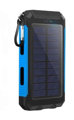 50000mah Solar Power Bank 2 LED 2 USB Battery Charger Waterproof Black & Blue