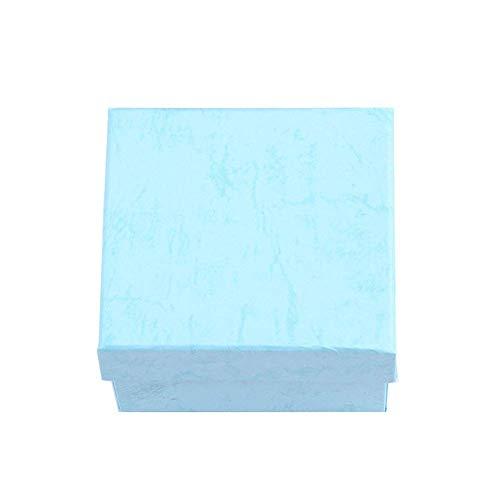 CHOUREN Collar con colgante cuadrado para reloj de pulsera con caja de joyería de color sólido, organizador de embalaje, color azul cielo, color: azul cielo (color: azul cielo)
