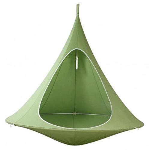 auspilybiber Hamaca Swing Silla Niños Pod Swing Seat Hamaca Swing Silla impermeable para uso interior al aire libre verde