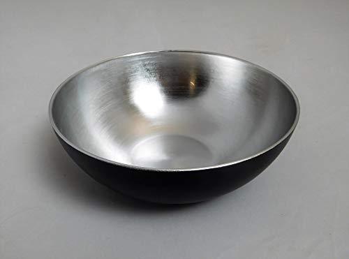 Passion MaDe Schale Dekoschale Obstschale Blumenschale Kunststoffschale Schüssel Kunststoff rund schwarz Silber 700001166 F51 (klein)