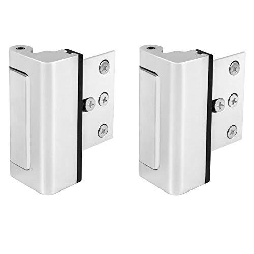 """QWORK 2 Pack 3"""" Security Door Lock, Child Proof Door Reinforcement Lock Withstand 800 lbs for Inward Swinging Door"""