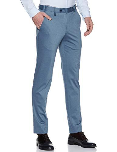 Park Avenue Men's Straight Fit Formal Trousers (PMTZ05697-B4_Medium Blue_36)