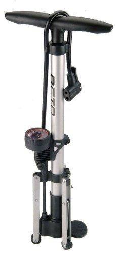 Beto Track - Bomba de pie con trípode y manómetro (Acero)