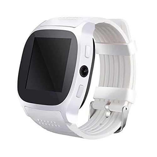 zyz T8 Bluetooth Smart Watch 1.54 Pulgadas, Rastreador De Ubicación De Movimiento, con Reproductor De Música De Cámara, Adecuado para Android,Blanco