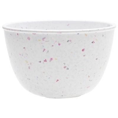 Zak Designs Confetti 24 ounce Soup Bowl, Eggshell White, 6-piece set
