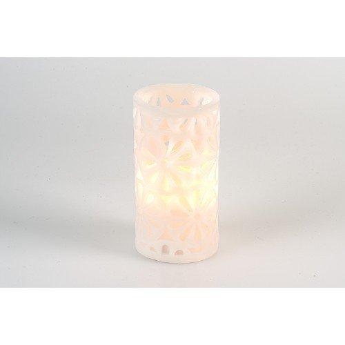 Pajoma Bougie LED Fleurs, Hauteur 15 cm 55215