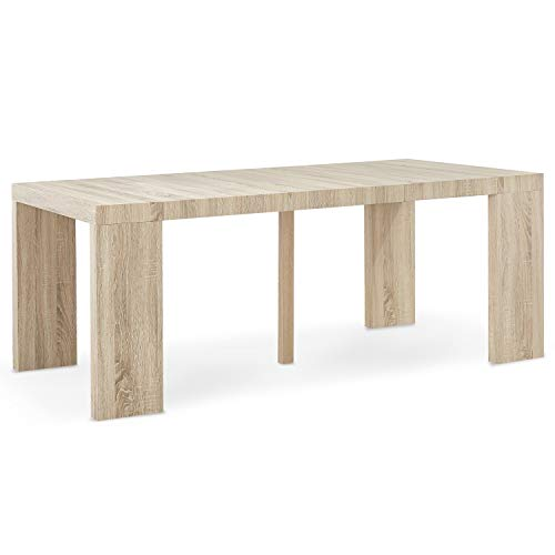 INTENSEDECO Table Console Extensible Oxalys Chêne Clair