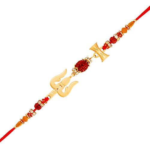 I Jewels Trishul Damru Lord Shiva Rakhi para hermanos/hombres/Childrem (R708)