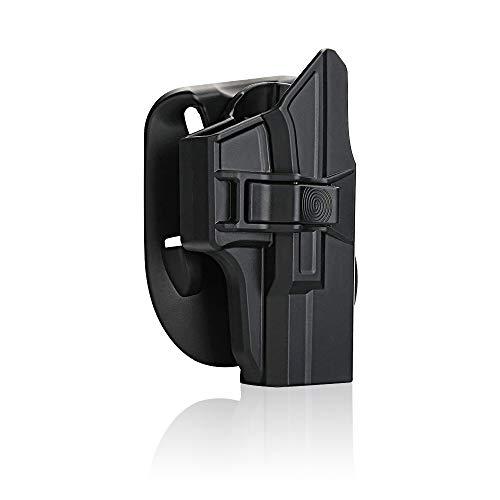 efluky Glock Holster Ceinture Airsoft Pistolet Defense Gun Holster for Glock 19/23/32(Gen1-5), Glock 19X, Glock 45, Paddle 60° Réglable