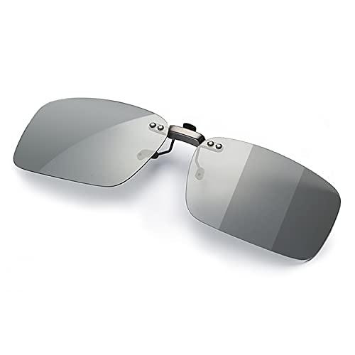 調光 クリップオン サングラス めがねの上から 偏光 変色 固定タイプ メガネ 取り付け 偏光サングラス ドライブ 運転 昼夜兼用 メガネの上からかけるサングラス