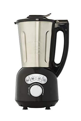 Senya SYCP-HB008N Blender Chauffant INOX Cook & Ice V3, Mixeur Soupe Veloutée/Moulinée, Cuisson Vapeur, Glace Pilée Smoothies, 1, 5L,1400W, Métal, 1.5 liters, Noir