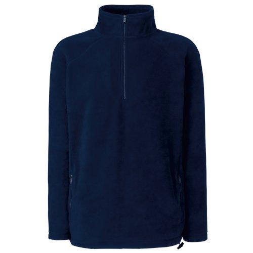Fruit of the Loom Fleece-Sweatshirt mit halbem Reißverschluss, für Herren, UTBC374, Mehrfarbig, UTBC374 XXL
