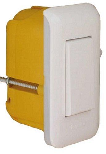 Legrand 200941 Schmaler Schalter mit Mosaikplatte + Einbaubox, Weiß