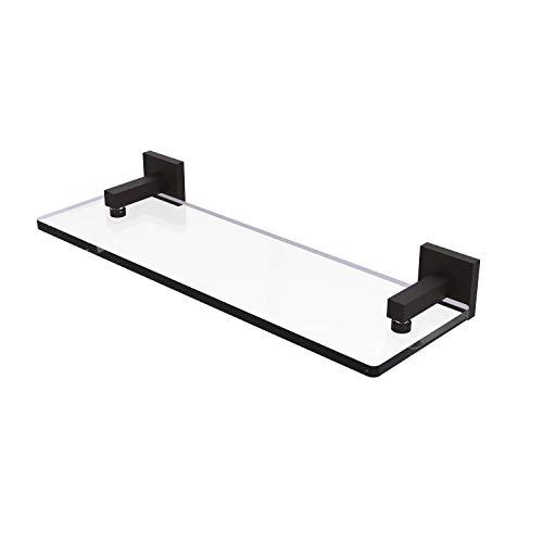 Allied latón Montero 16en. Estante de mueble para lavabo de cristal con bordes biselados, MT-1-16-ORB