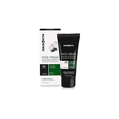 Macrovita - Bio macro vita crema facial para hombres con algodón, el...