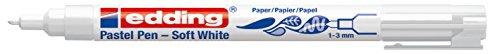 edding Soft Pastel Pen 1500 weiß, Rundspitze: 1-3 mm, Farbe: weiß