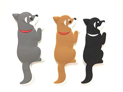 Singlebranch Decorative Dog Magnets for Refrigerator Office Classroom & Kitchen - Hooks for Hanging Keys Towel Hangers - Sticks to Fridge White Board Lockers and Any Magnetic Surface