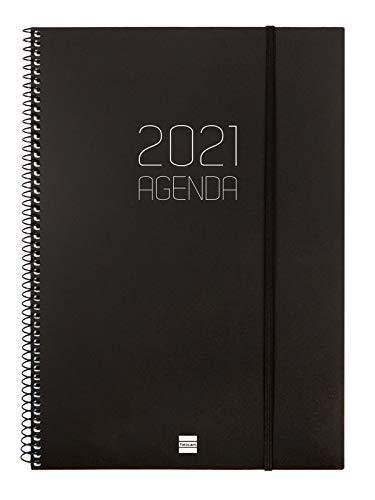 Finocam - Agenda 2021 Semana vista vertical Espiral Opaque...