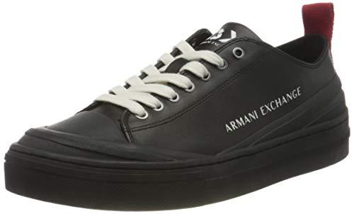 Armani Exchange Herren Recycled Leather Sneakers Sneaker, Black Germany, 46 EU