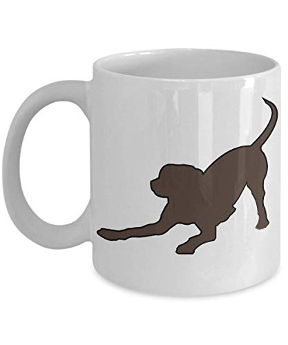 Gifts for Dog Lovers Chocolate Labrador Taza de café Playbow Pooch de Live Love Frolic Awesome Coffee Tea Cup 11oz