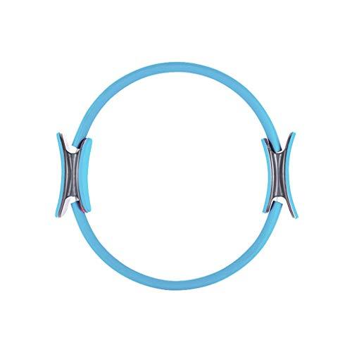 YULAN Rueda de Yoga Yoga círculo mágico Anillo Principiante Pilates Círculo Flaco Equipo de la Aptitud del Muslo de la Cintura Dharma (Color : Blue)