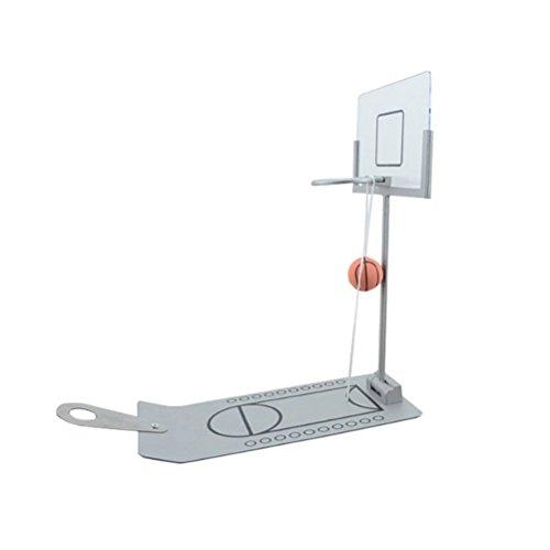 STOBOK Mini Basketballspiel Desktop Basketball Spielzeug Fingerschießen Spiel Schule Büro Entspannen Spiel (Silber)