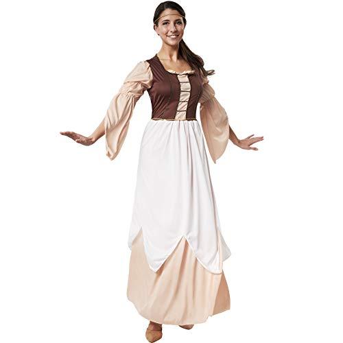 dressforfun 900549 - Disfraz de Mujer Hija del Molinero, Traje Medieval en Colores cálidos (L | No. 302525)