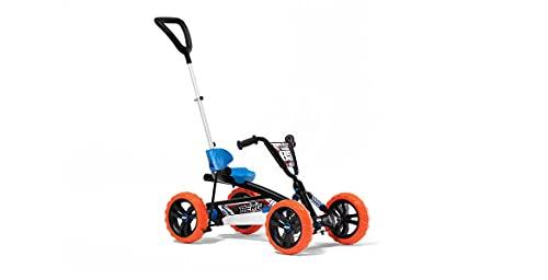 Berg 24.32.00.00 Pedal Gokart Buzzy 2in1 Nitro | mit Schubstange und Schaltbarer Freilauf, Kinderfahrzeug, Sicherheid und Stabilität, Kinderspielzeug geeignet für Kinder im Alter von 44232 Jahren