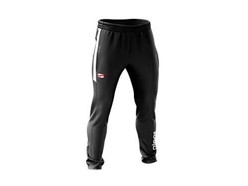 alpas Trainingshose/Jogginghose/Freizeithose Dynamic für Kinder/Jungen Gr. 116 bis 176 *NEU* Sporthose, Farbe: schwarz/weiß, Größe: 140