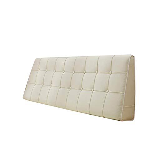 Outdoor Seat/Back Chair Kussen Kussen, Seizoensgebonden Vervanging Kussens, Grote Kussen rugleuning tatami bed kussen (Beige) 20/4/8 (Color : 1, Size : 190X50cm)