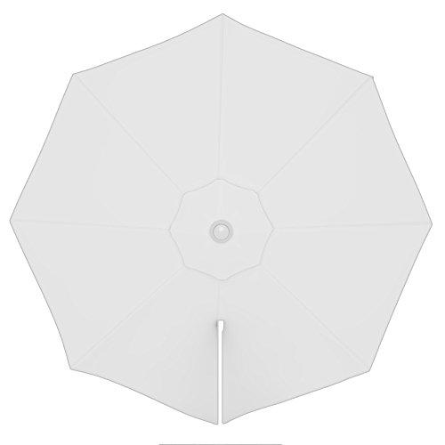 PARAMONDO Toile de rechange pour parasol avec Air Vent pour parasol à mât excentré Parapenda (3,5m / ronde), blanche