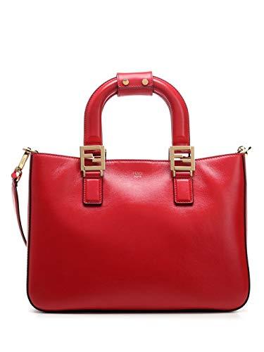 Luxury Fashion | Fendi Dames 8BH367A9Y0F19T8 Rood Leer Handtassen | Lente-zomer 20