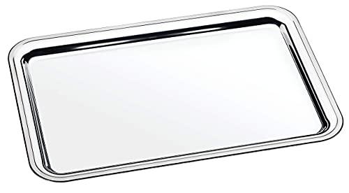 Tramontina Buena Bandeja de Servir (Acero Inoxidable, 49 x 33 cm, Apta para lavavajillas)