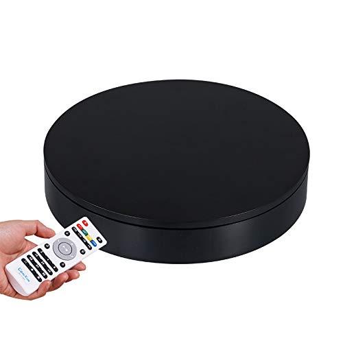 YSJX Base Giratoria Eléctrica Plataforma Rotatoria 360° de Color Negro para Reloj,Joyas,Teléfono,Proyectos...