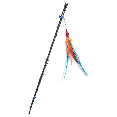GoCat Da Bird Pull Apart Rod and Bird Cat Feather Toys, Assorted Colors