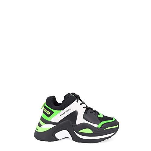 NAKEDWOLFE Sneaker Track Neon Donna Mod. NWSTRACK Verde 35