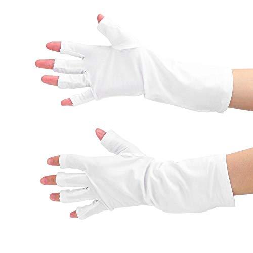 1 Paar Anti-UV-Nagelkunsthandschuhe Anti-UV-LED-Lampe Nagelwerkzeug Strahlenschutzhandschuhe Nagelschutzhandschuhe(01)