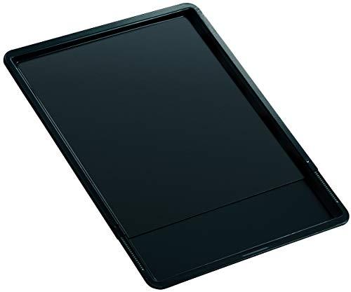 Zenker Back- und Plätzchenblech ausziehbar BLACK METALLIC, Backblech aus Stahlblech, Ofenblech rechteckig mit Antihaftbeschichtung, Herdbackblech verstellbar (Farbe: Schwarz), Menge: 1 Stück