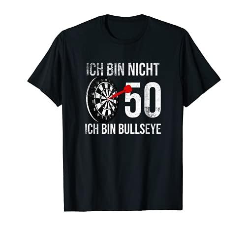 50er Geburtstag Dart Ich bin nicht 50 ich bin bullseye T-Shirt