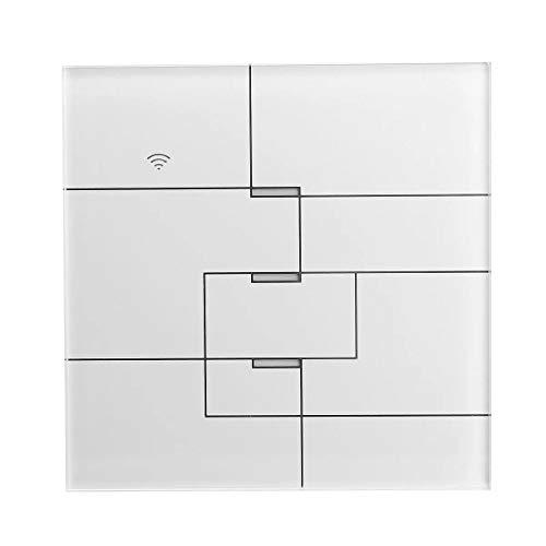 Interruptor de accesorios de automóvil Wifi Luz táctil de pared Interruptor Work Panel con Alexa Google Inicio 1/2/3 manera AC100-240V (Style: : #3: 3 way)